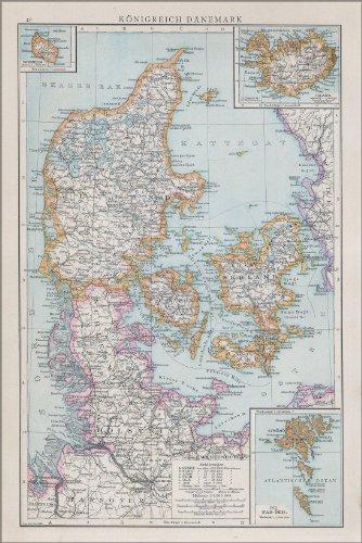 Poster - Map of Denmark