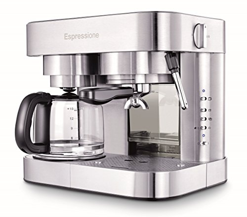 Espressione EM-1040 Stainless Steel Machine Espresso and Coffee Maker, 1.5 L (Best Coffee Maker And Espresso Machine Combo)