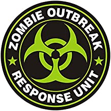 "1080GPHX Zombie Outbreak Response Unit Green 3"" Decal Control Team Gloss Vinyl StickerMade in USA"