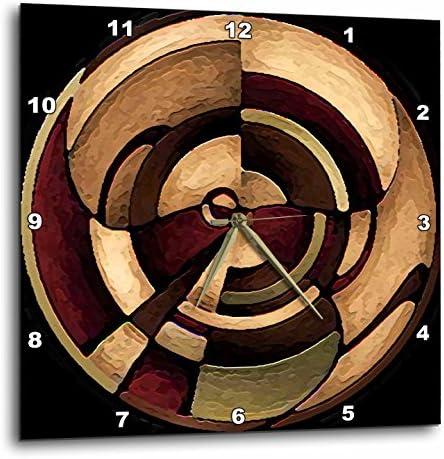 3dRose DPP_4050_3 Digital Artwork Design Wall Clock