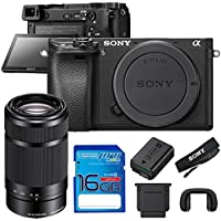 Sony Alpha a6300 Mirrorless Digital Camera (Body) with Sony 55-210mm Lens + 16GB I3ePro SD Card - International Version