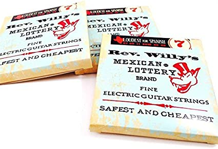 Reverend Willys Mexican Lottery Brand Guitar Strings Electric 3 Sets 08-40