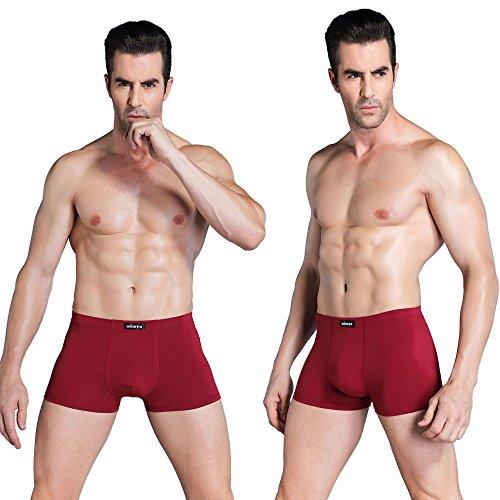 Wirarpa Boxershorts Herren Baumwolle Unterhosen Männer Boxer Unterwäsche 4er Pack Trunks