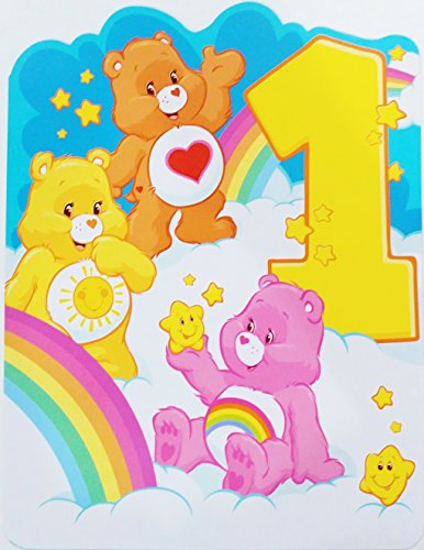 Care Bears - Happy 1st Birthday to the cuddliest, most huggable, sweetest 1 Year Old Ever! Greeting Card - Turning One / First (Unisex for Boy / Girl)