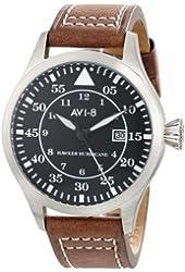 AVI-8 Men's AV-4012-02 Hawker Hurricane Analog Japanese-Quartz Brown Watch