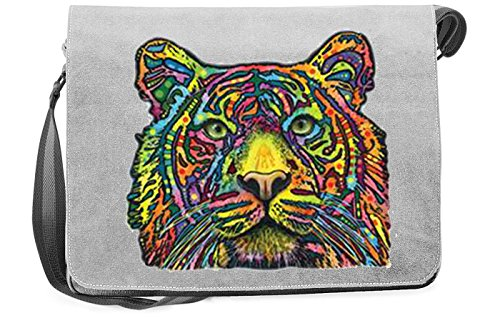 Tiger Canvas Tasche for Ladies, Farbe Grau, Pop Art Style