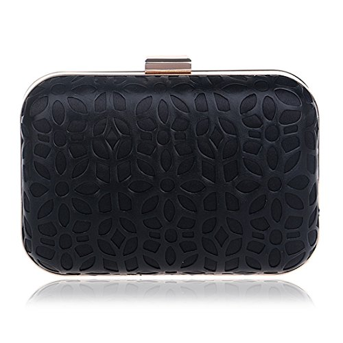 Fly53 Black Clutch Dress Ladies PU Gold Dress Bag Evening Bag evening Banquet Fashion Color bag Bag FLY Evening TBrgxTqwS