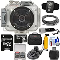 Intova Connex 1080p HD 60m/200ft Waterproof Video Action Camera Camcorder & Remote + 20m VGA Cable + Torch + Suction Cup Mount + Buoy Handle + 32GB + Case Kit