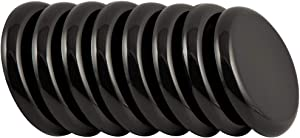 "SuperSliders 4764495N Reusable Slider for for Medium Sized Furniture on Carpet 2-1/2 Inch Black, 8 Pack, 2-1/2"","