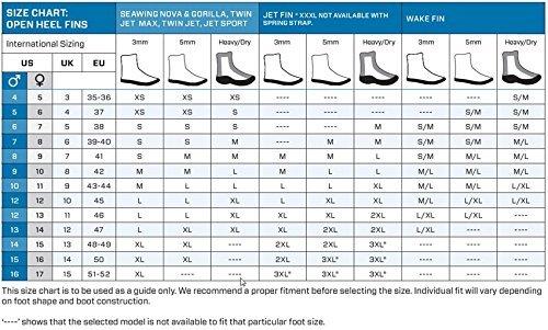 Scubapro Seawing Nova Full Foot Fins Black Medium