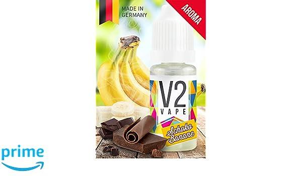 V2 Vape concentrado de plátano de chocolate alta dosis de sabor premium de alimentos 10ml 0mg libre de nicotina: Amazon.es: Alimentación y bebidas