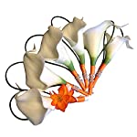 Set-of-6-White-and-Orange-Calla-Lily-Boutonnieres-Perfect-for-Prom-Weddings-etc