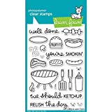 bench bbq - Lawn Fawn Clear Stamps - LF889 Let's BBQ