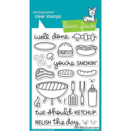 - Lawn Fawn Clear Stamps - LF889 Let's BBQ