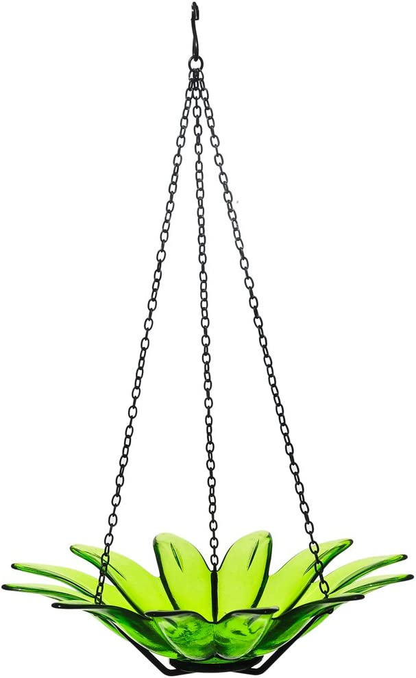 Mosaic Birds M349-200-01 Daisy Bird Bath or Feeder Lime