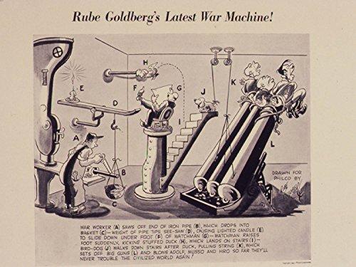 World War II Poster - Rube Goldberg's latest war machine! 17.5