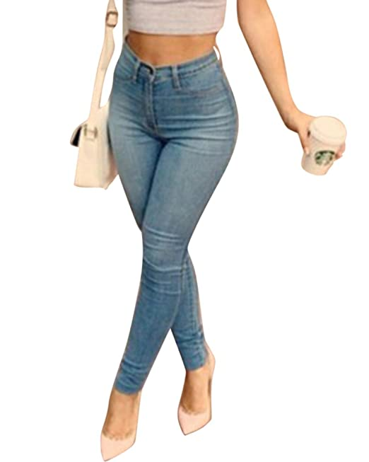 Moollyfox Mujer Talle Alto Push Up Esquina Flaca Jeans ...
