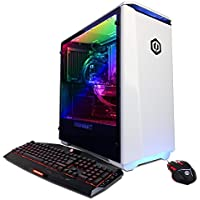 CYBERPOWERPC BattleBox Ultimate SLC8600A Gaming PC (Intel i7-7700K 4.2GHz, NVIDIA GTX 1080 Ti 11GB, 32GB RAM, 3TB HDD, 240GB SSD, WiFi, Liquid Cool, Win10) White