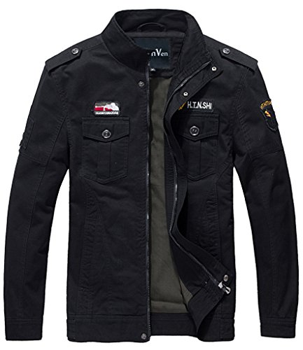 WenVen Casual Cotton Military Jacket product image