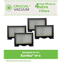 4 Replacements for Eureka HF8 HEPA Style Filter Fits 3600 & Mighty Mite Canisters, Compatible With Part # 60666, 60666A, 60666B & 60666-6, by Think Crucial
