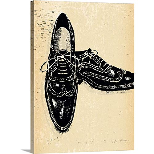 GREATBIGCANVAS Gallery-Wrapped Canvas Entitled 1940's Wingtips by Peter Horjus 30