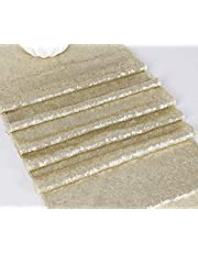 """Choose Your Sizes Rose Gold Sequin Table Runner Overlay Sparkly Glitz Sequined Table Linen 14"""" by80"""