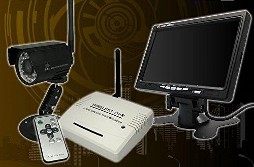 【ワイヤレス】7インチLCD+切替型SDカード録画機+屋外CCD赤外線カメラ B00IZZ1GHI