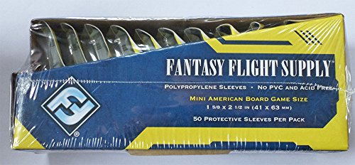 Fantasy Flight Games 500 Mini American Board Game Size Sleeves - 10 Packs + Box - Small Usa - Ffs01 41 X 63 (Flight Games Fantasy Games Board)