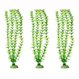 Rurah Ornament Artificial Green Plant Grass for Fish Tank Aquarium Decor Plastic Green Color