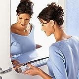 Rectangle Mosaic Tiles Décoratif Miroir Stickers muraux auto-adhésif Décor mur 60 cm * 100 cm pour armoires de bain Salon