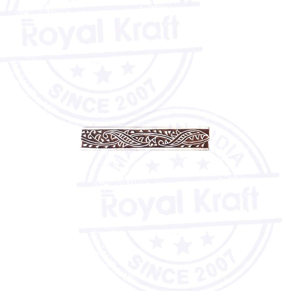 Fancy Print Stamps Floral Border Motif Wood Blocks DIY Henna Fabric Textile Paper Clay Pottery Block Printing Stamp