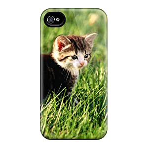 Defender Case With Nice Appearance (cat In The Meadow) For Iphone 4/4s