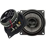 Massive Audio FX4-4 Inch, 200 Watts Max, 50 Watts RMS, FX Series Coaxial Speakers, 20mm Aluminum Dome Ferro Fluid, 6dB Linksworth Riley Crossover 4 Ohm (Sold AS Pair)