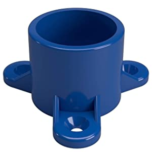 """FORMUFIT F001ECT-BL-10 1"""" Furniture Grade Table Screw Cap in Blue, 1.315"""" ID, PVC (Pack of 10)"""