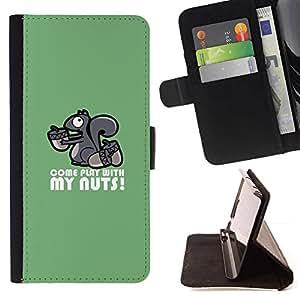 Momo Phone Case / Flip Funda de Cuero Case Cover - Nutty Kinky Squirrel - Sony Xperia Z2 D6502