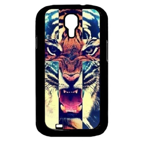 shion Tiger Roar Cross Quote Hard Case Back Cover for Samsung Galaxy S4 Iv I9500 (Tiger Protector Case)
