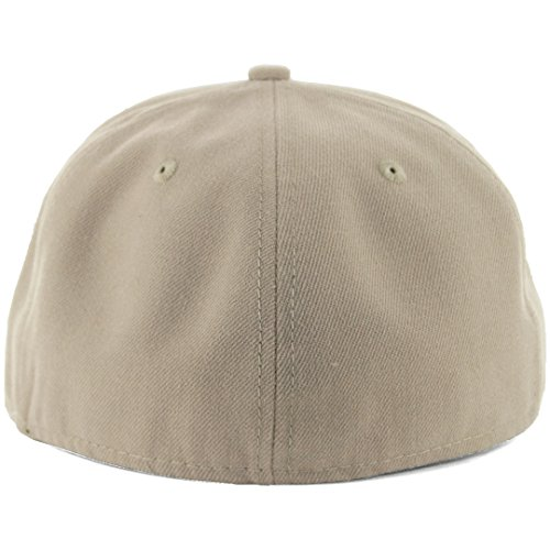 low priced 07133 d181c New Era Plain Tonal 59Fifty Fitted Hat (Khaki) Men s Blank Cap - Import It  All