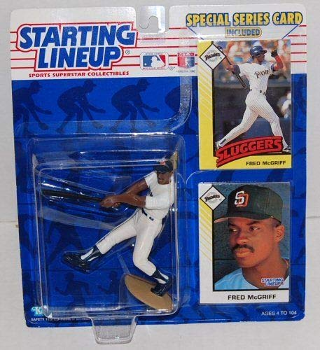 (Starting Lineup Fred McGriff Figure with 2 Trading Cards 1993 MLB Baseball San Diego Padres)