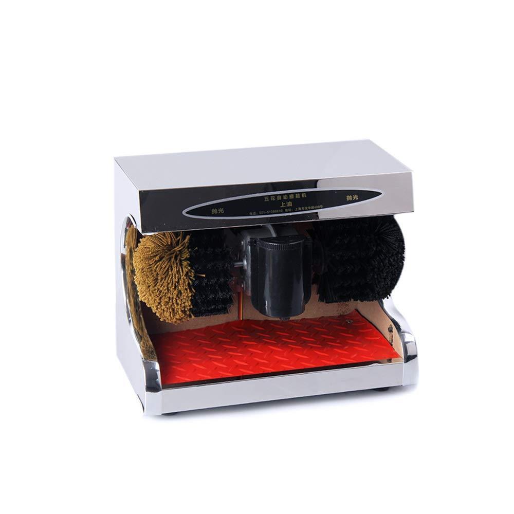 QFFL 靴磨き機、電気靴磨き自動センサー、2つのブラシ付き磨き機で磨き光をきれいに クリーニングブラシ B07PM3SW95