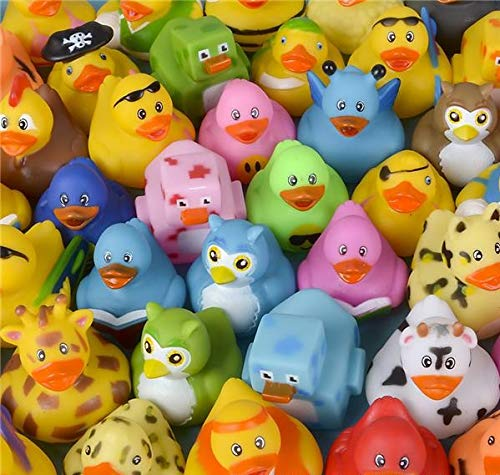 Rhode Island Novelty Assorted Rubber Ducks | Lot of 50 (Duck Plastic)