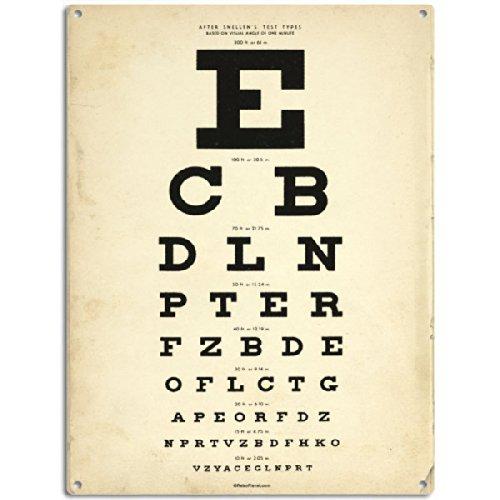 Eye Chart Tin Sign