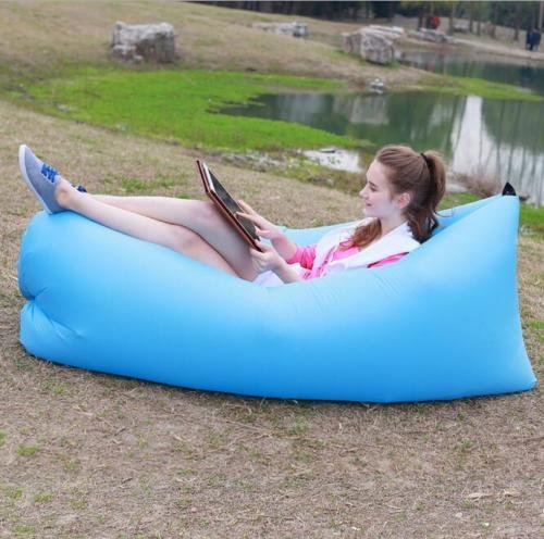 Fast Inflatable Air Bag Sofa Outdoor Beach Camping Sleeping Lazy Bed Folding