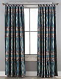 Cheap North End Décor Turquoise Diamond Southwest Chenille Room Darkening Curtain Panels, 2 Panels (48″ x 84″ each) Included