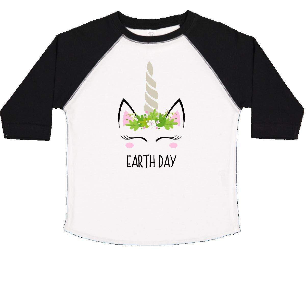 inktastic Unicorn Earth Day Toddler T-Shirt