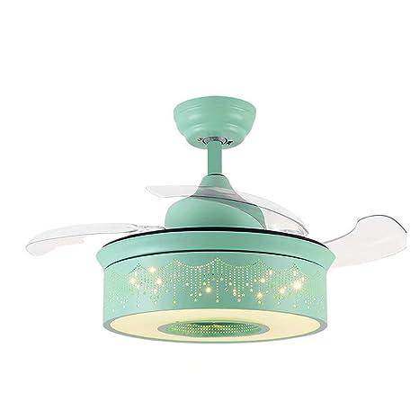 LAZ Ventilador de techo invisible moderno de 42 pulgadas, luz de ...