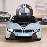 BMW i8 12V Kids Ride On Battery Powered Wheels Car RC Remote Blue