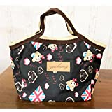Goodscene Small Lunch Bag Thicken Insulated Lunch Bag Portable Storage Bag(Black)
