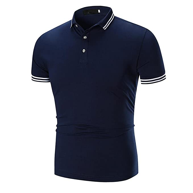 Hombre Camisa Verano 2018, Polo de Manga Corta Casual Hombres Moda Camisas Absolute (