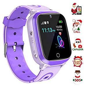 YENISEY Kids Smart Watch Waterproof for Boys Girls - WiFi+GPS Tracker Smartwatches IP67 Waterproof Fitness Tracker with SOS Camera Anti-Lost Games ...