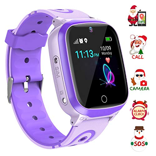 YENISEY Kids Smart Watch Waterproof for Boys Girls - WiFi+GPS Tracker Smartwatches IP67 Waterproof Fitness Tracker with SOS Camera Anti-Lost Games Touch Screen Electronic Toy Christmas Birthday Gift